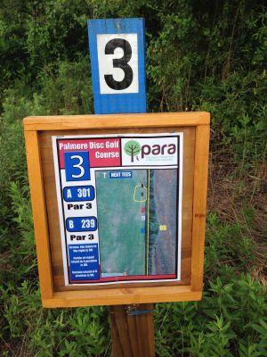 Palmore Park, Main course, Hole 3 Hole sign