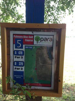 Palmore Park, Main course, Hole 5 Hole sign
