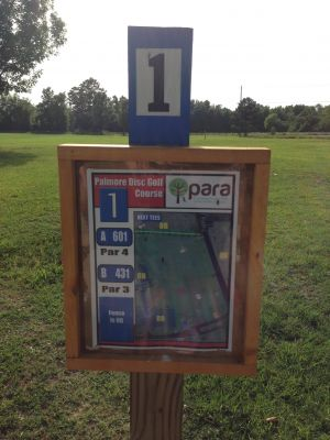 Palmore Park, Main course, Hole 1 Hole sign