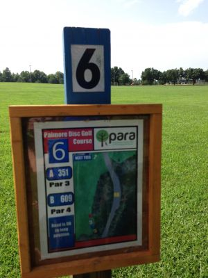 Palmore Park, Main course, Hole 6 Hole sign