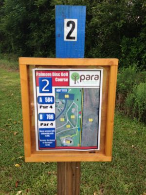 Palmore Park, Main course, Hole 2 Hole sign
