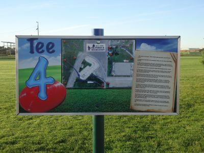 Optimist Park, Main course, Hole 4 Hole sign