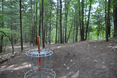 Deerfield Park, Wildwood, Hole 1 Reverse (back up the fairway)