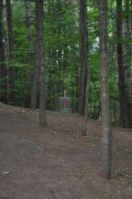 Deerfield Park, Wildwood, Hole 1 Short approach