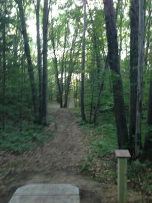 Deerfield Park, Wildwood, Hole 2 Long tee pad