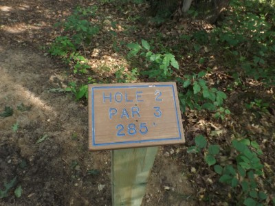 Deerfield Park, Wildwood, Hole 2 Hole sign