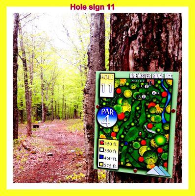 Smugglers' Notch Resort, Brewster Ridge, Hole 11 Hole sign