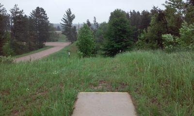 Wild Haven Disc Golf Resort, Yetisburg, Hole 12 Tee pad