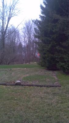 Warfield's Woods, Main course, Hole 1 Tee pad