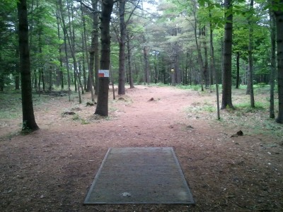 Campbell Highlands, Main course, Hole 9 Tee pad
