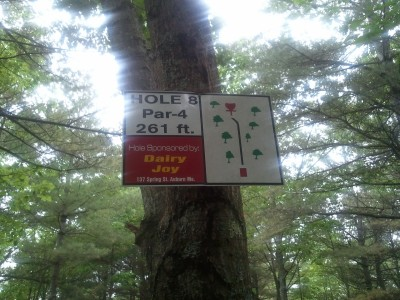 Campbell Highlands, Main course, Hole 8 Hole sign