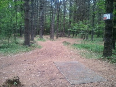 Campbell Highlands, Main course, Hole 2 Tee pad