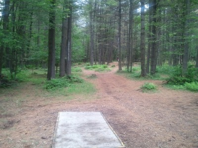 Campbell Highlands, Main course, Hole 1 Tee pad