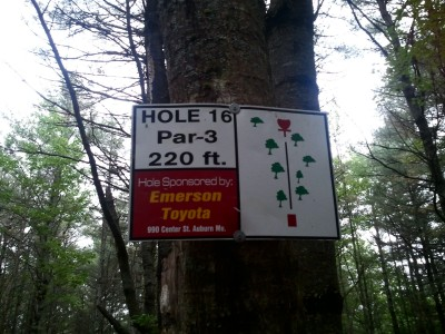 Campbell Highlands, Main course, Hole 16 Hole sign