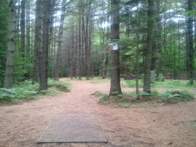 Campbell Highlands, Main course, Hole 6 Tee pad
