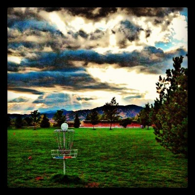 Valmont City Park, Main course, Hole 18 Reverse (back up the fairway)
