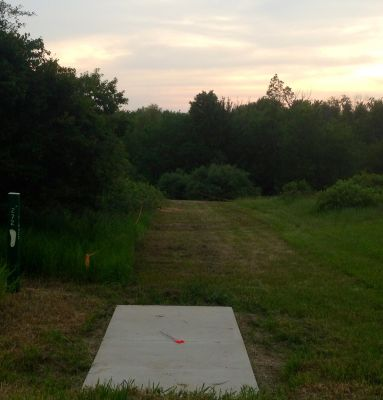 Merrill Park West, The Gulch, Hole 1 Long tee pad
