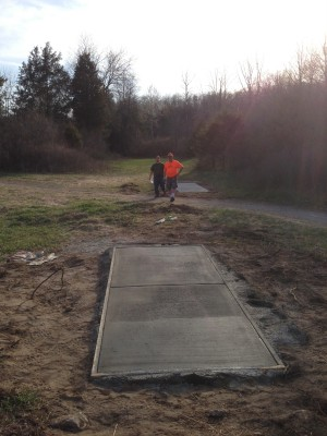 Merrill Park West, The Gulch, Hole 4 Long tee pad