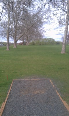 Wide Hollow DGC, Main course, Hole 2 Tee pad
