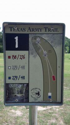 Texas Army Trail, Main course, Hole 1 Hole sign