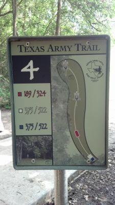Texas Army Trail, Main course, Hole 4 Hole sign