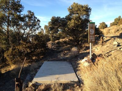 Reno Adventure Park, Tom's Cliff Top Course - Green, Hole 9 Tee pad