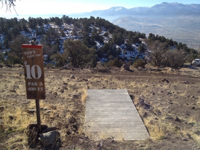 Reno Adventure Park, Tom's Cliff Top Course - Red, Hole 10 Tee pad
