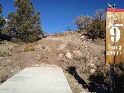 Reno Adventure Park, Tom's Cliff Top Course - Red, Hole 9 Tee pad