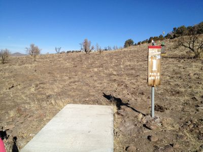 Reno Adventure Park, Tom's Cliff Top Course - Red, Hole 1 Tee pad