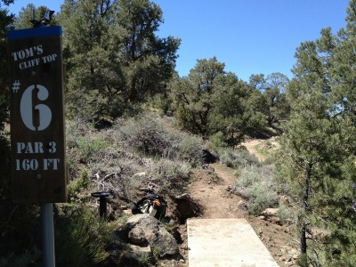 Reno Adventure Park, Tom's Cliff Top Course - Blue, Hole 6 Tee pad