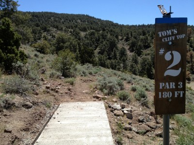 Reno Adventure Park, Tom's Cliff Top Course - Blue, Hole 2 Tee pad