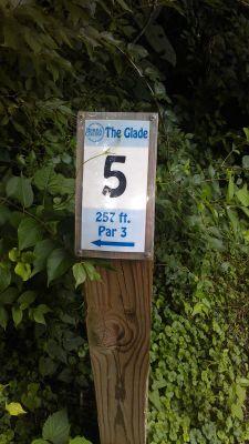 Berea College Glade, Main course, Hole 5 Hole sign