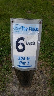Berea College Glade, Main course, Hole 6 Hole sign