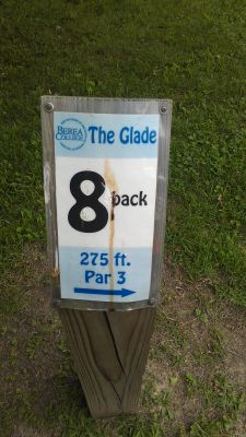 Berea College Glade, Main course, Hole 8 Hole sign