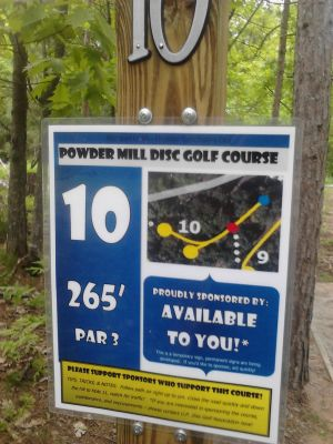 Powder Mill DGC, Main course, Hole 10 Long tee pad