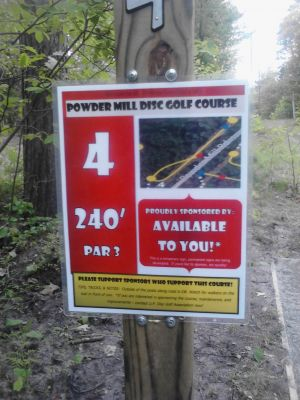 Powder Mill DGC, Main course, Hole 4 Short tee pad
