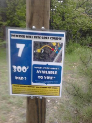 Powder Mill DGC, Main course, Hole 7 Long tee pad