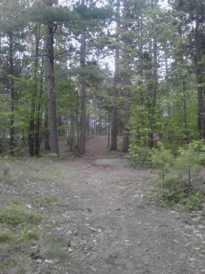 Powder Mill DGC, Main course, Hole 18 Long tee pad