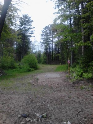 Powder Mill DGC, Main course, Hole 12 Long tee pad