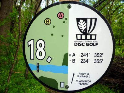 Root River Parkway, Main course, Hole 18 Hole sign