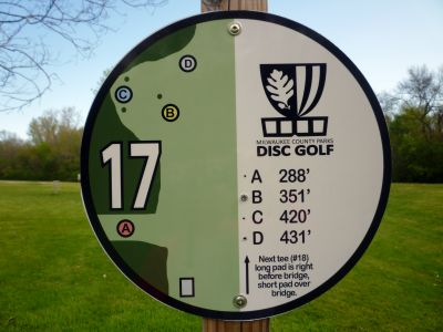 Root River Parkway, Main course, Hole 17 Hole sign