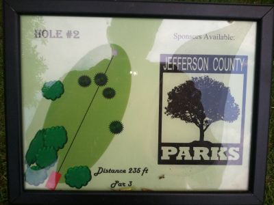Traveler's Park, Main course, Hole 2 Hole sign