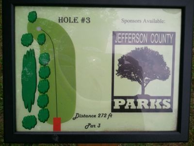 Traveler's Park, Main course, Hole 3 Hole sign