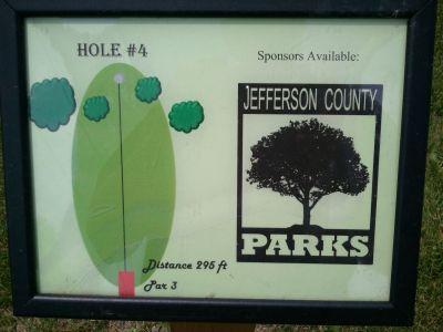 Traveler's Park, Main course, Hole 4 Hole sign