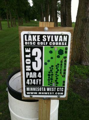 Lake Sylvan Park, Main course, Hole 3 Hole sign