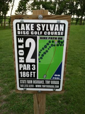 Lake Sylvan Park, Main course, Hole 2 Hole sign