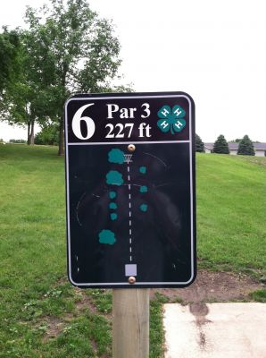 Slayton DGC, Main course, Hole 6 Hole sign