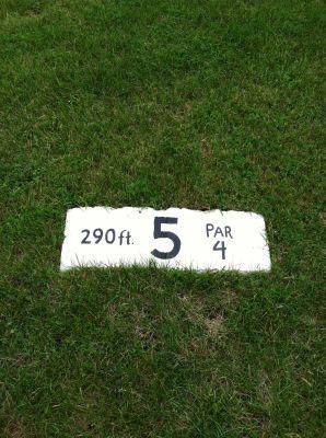 Balaton DGC, Main course, Hole 5 Hole sign
