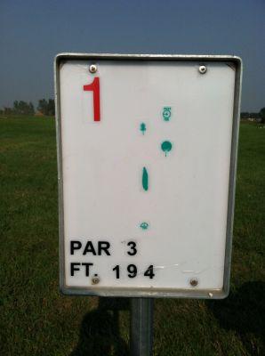 Turtle Creek Park, Main course, Hole 1 Hole sign