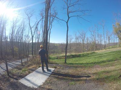 North Strabane Township DGC, Main course, Hole 3 Long tee pad